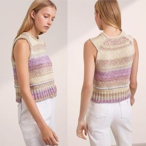 WILFRED Aritzia Chunky Stripe Cropped Sweater \\ S
